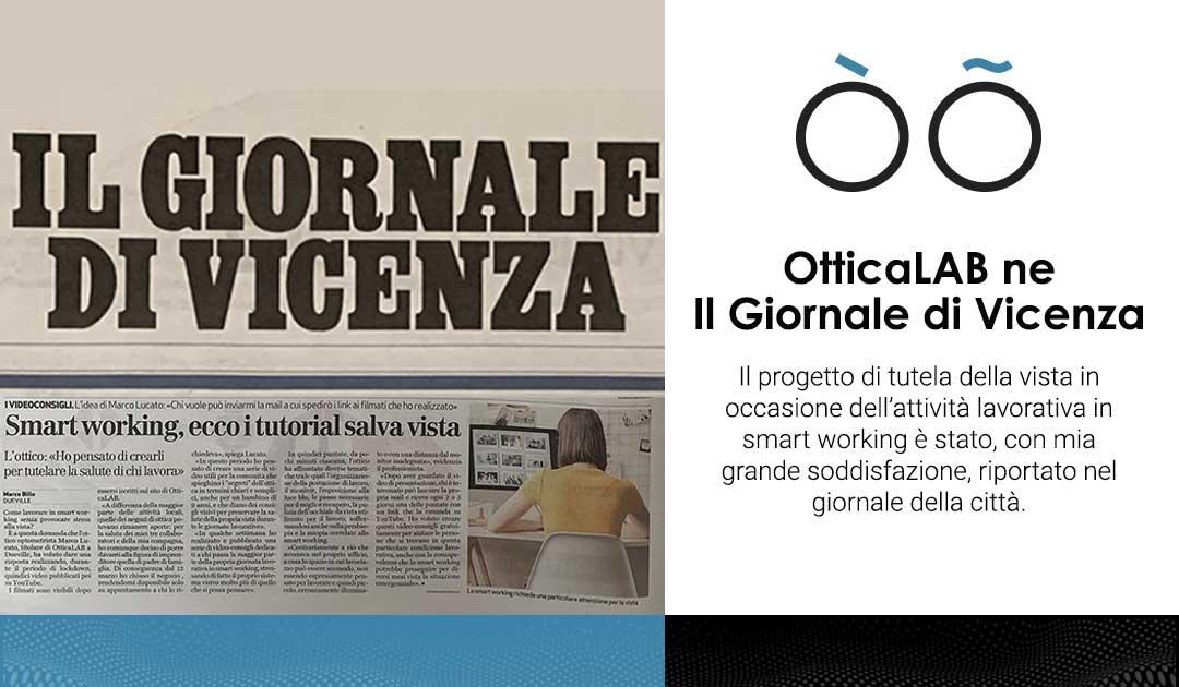 OtticaLAB ne Il Giornale di Vicenza